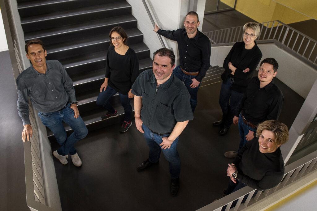 v.l.n.r.: Roger Walker, Judith Tresch, Rico Büeler, Thomas Zberg, Brigitte Stadler, Franz Epp, Pascale Bless
